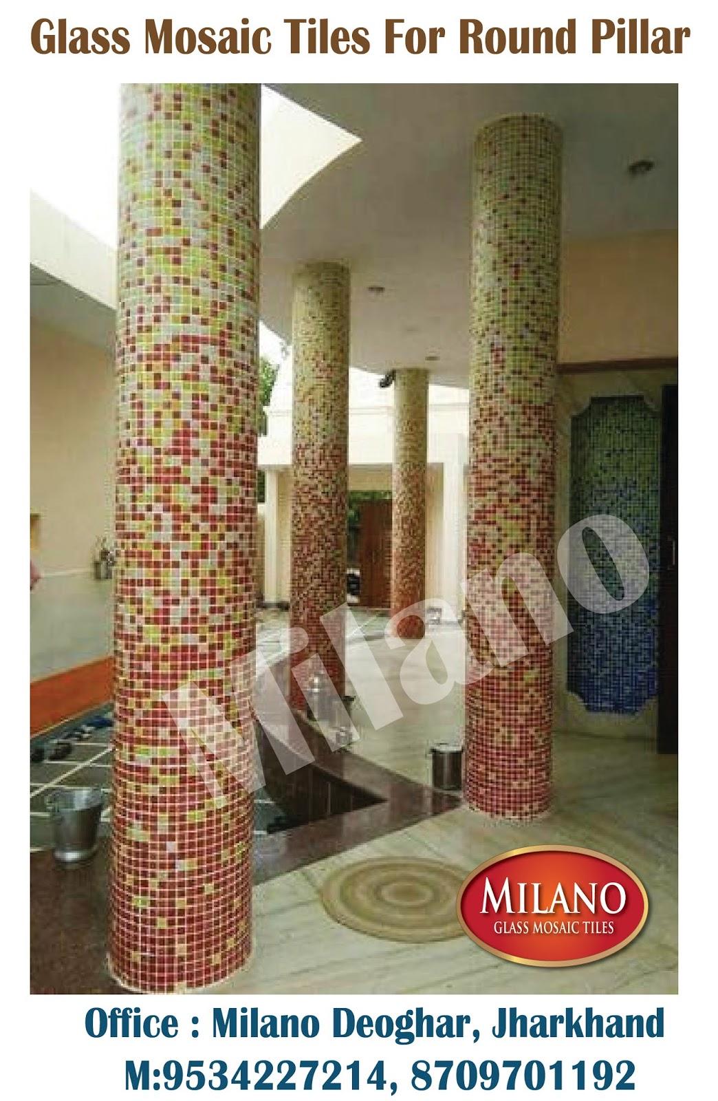 Round Pillar Tiles Design And Digital