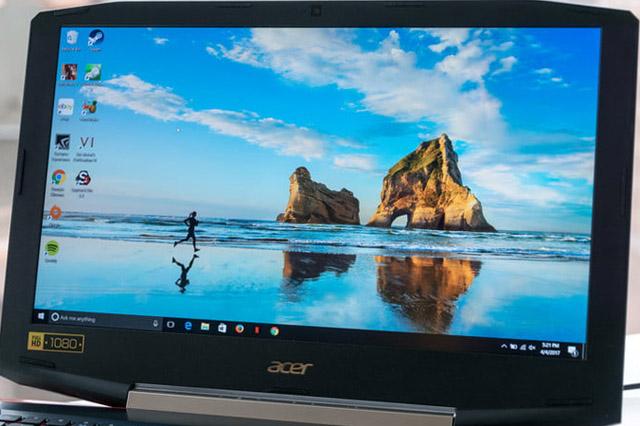 tela, resolução, qualidade de imagem notebook gamer acer vx5