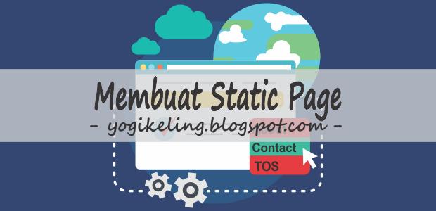 cara membuat halaman statis di blog