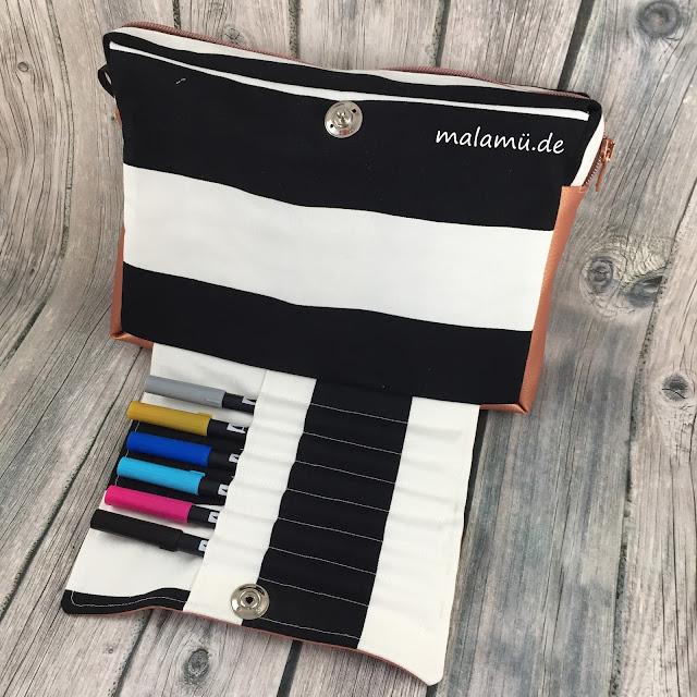 ausklappbares Stiftefach für Brushpens