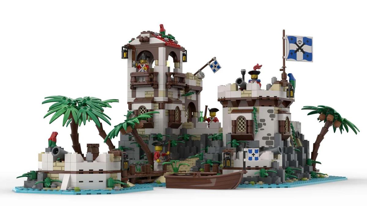 レゴアイデアで『帝国の要塞島』が製品化レビュー進出!2021年第2回1万サポート獲得デザイン紹介