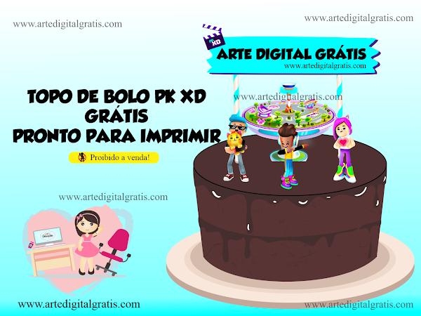 TOPO DE BOLO PK XD GRÁTIS