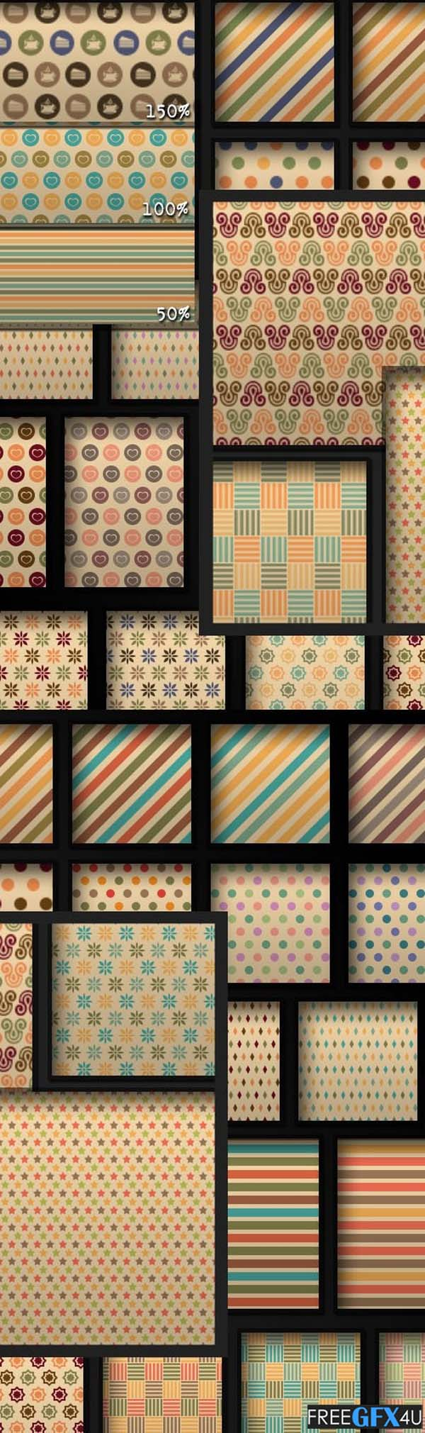 110 Photoshop Pattern Styles In Vintage Color Schemes