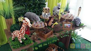 Decoração de festa infantil Safári em Porto Alegre