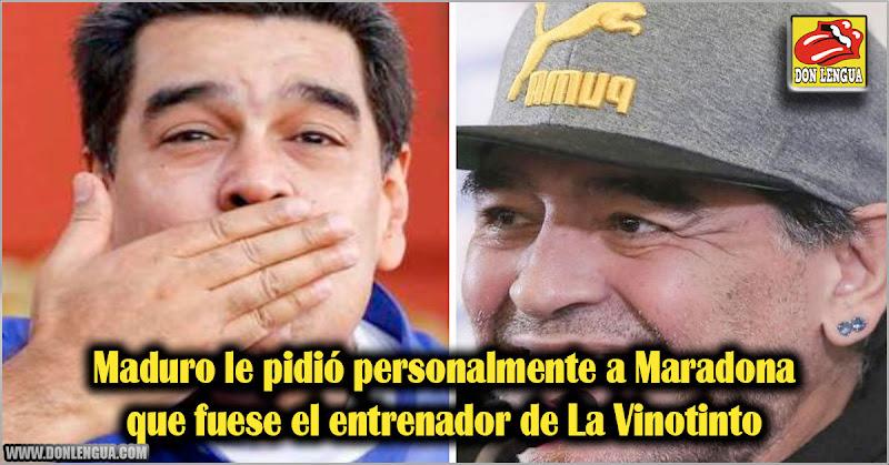Maduro le pidió personalmente a Maradona que fuese el entrenador de La Vinotinto
