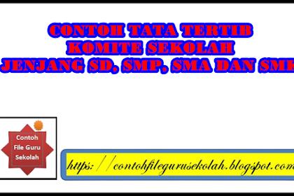Contoh Tata Tertib Komite Sekolah