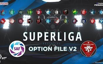 Super Liga Argentina V2 | Option File | PC | PS4 | PES2020