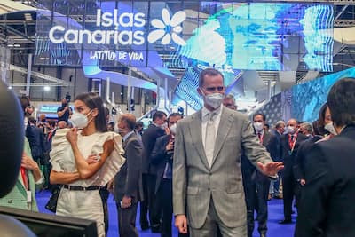 ملك إسبانيا يقاطع رواق المغرب في معرض السياحة الدولي بمدريد