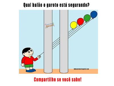 Teste de visão - Qual balão o garoto está segurando?