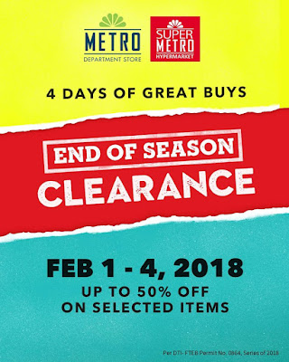 Manila Shopper Metro Stores End Of Season Clearance Sale