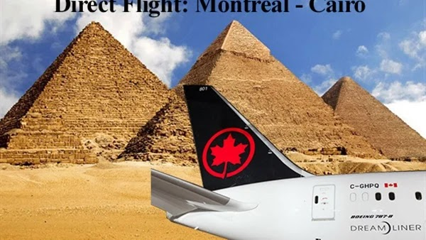 3 flights a week .. Air Canada begins booking tickets between Montreal and Cairo