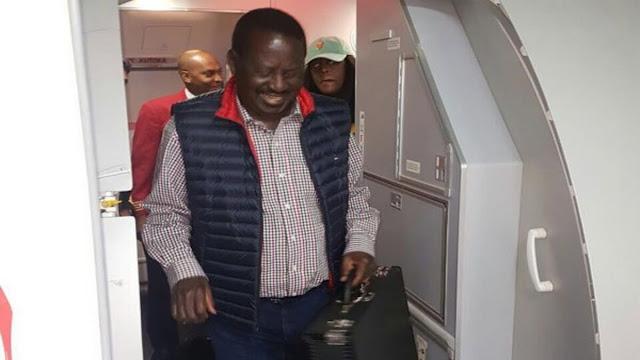 Download now the video of Raila Odinga in Dubai, health status