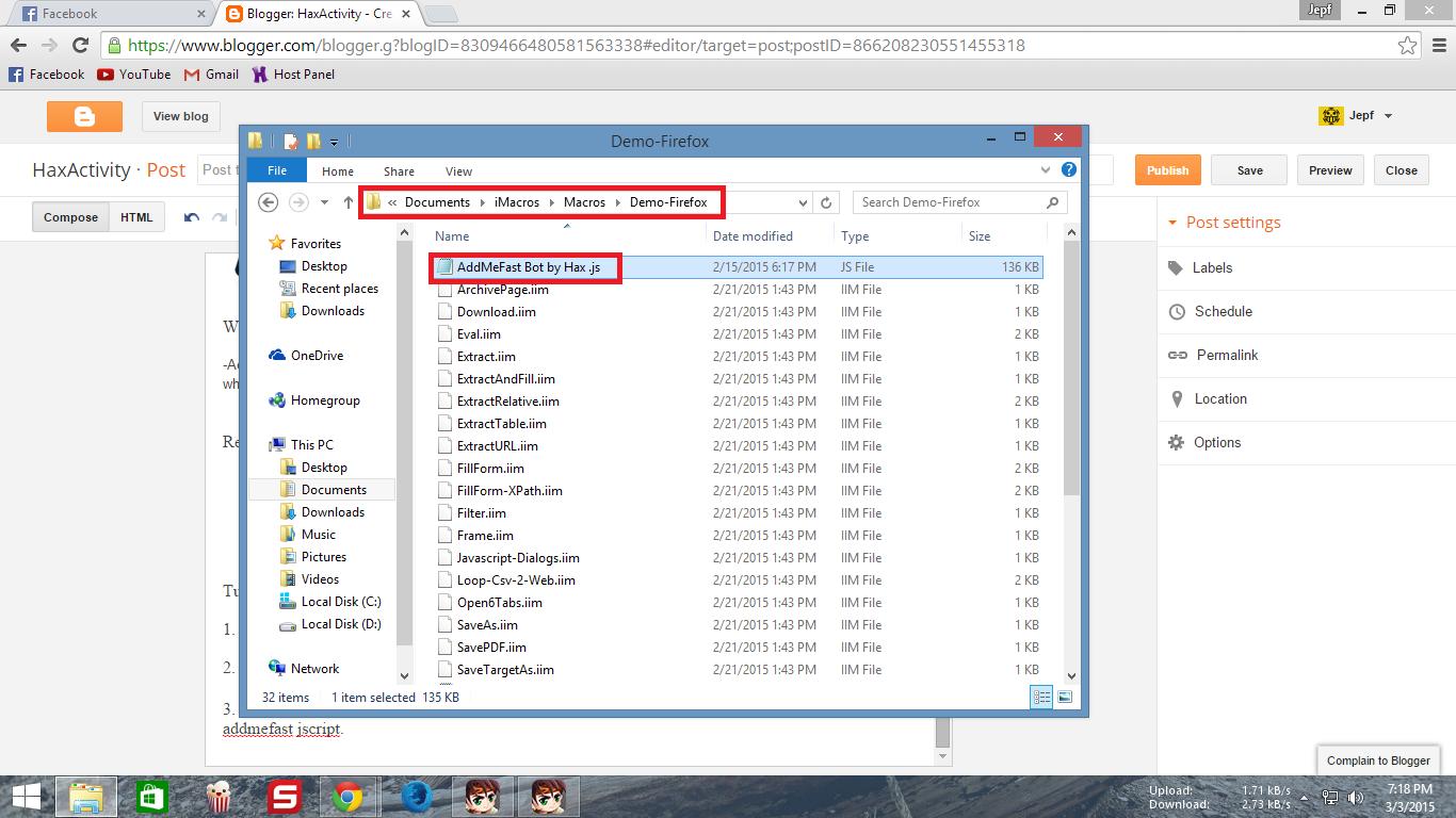 Bot addmefast firefox bit download 2014