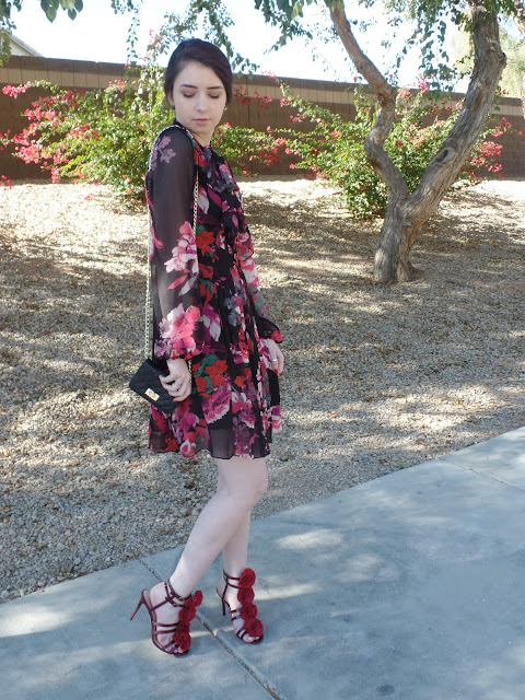 romantic floral outfit
