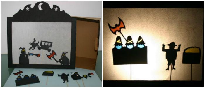DIY teatro de sombras casero, del cuento Los tres bandidos