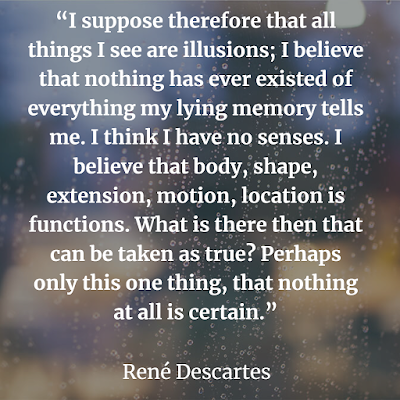 top Rene Descartes inspirational quote about illusion