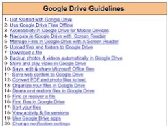 Google Drive Cheat Sheet for Teachers and Educators