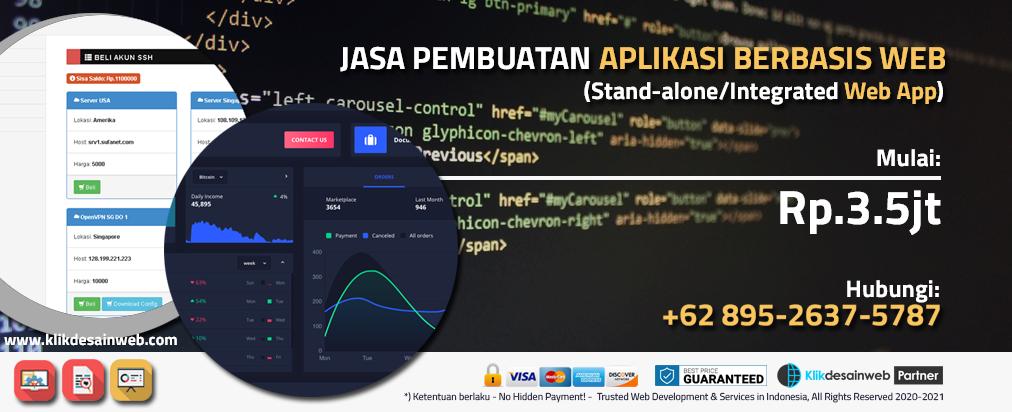 jasa pembuatan aplikasi berbasis web,web app,aplikasi web