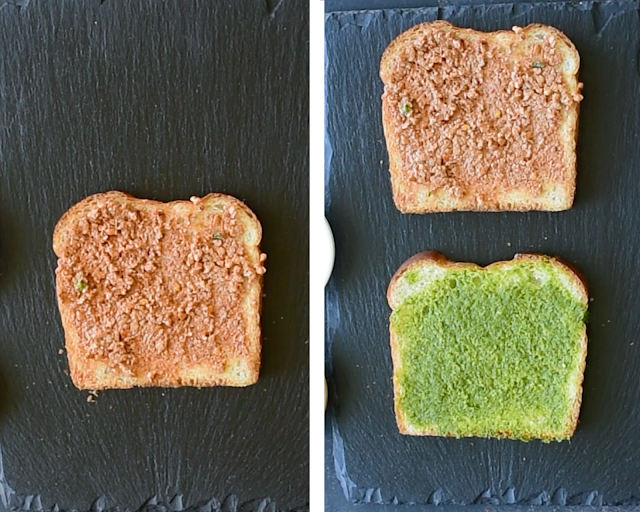 How to make tricolor sandwiches