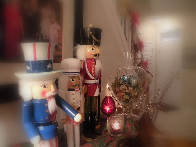 Nutcrackers, hydrangeas, and vintage ornaments at Chickadee Home Nest