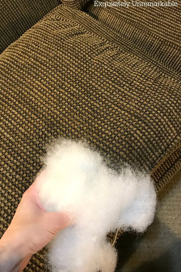 Fixing Floppy Couch Cushions With Fiberfill