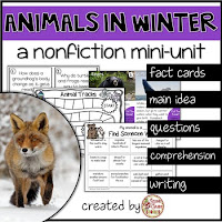 animals in winter nonfiction unit