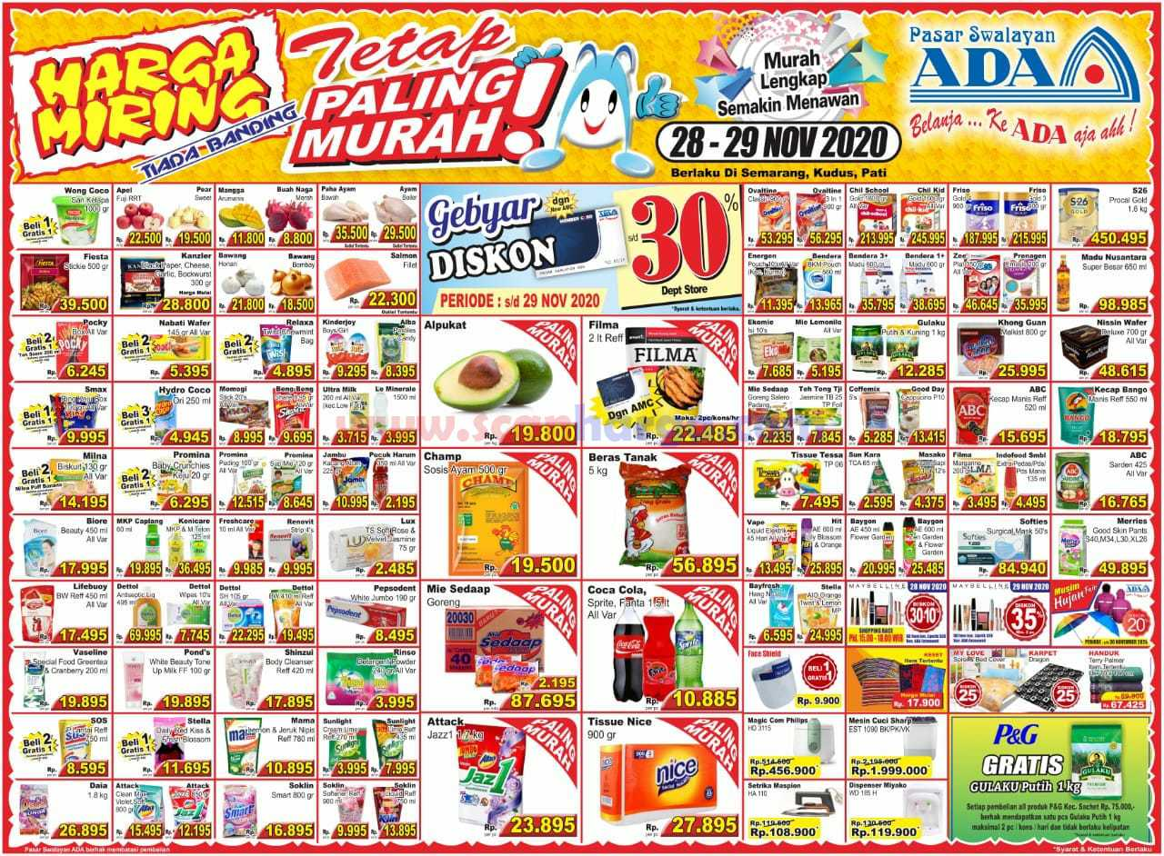 Katalog Promo ADA Swalayan Terbaru 28 - 29 November 2020
