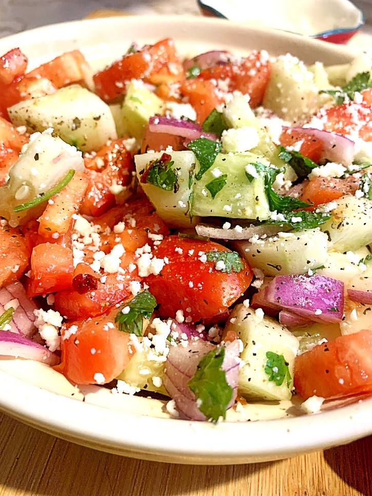 Mexican Cucumber Tomato Salad