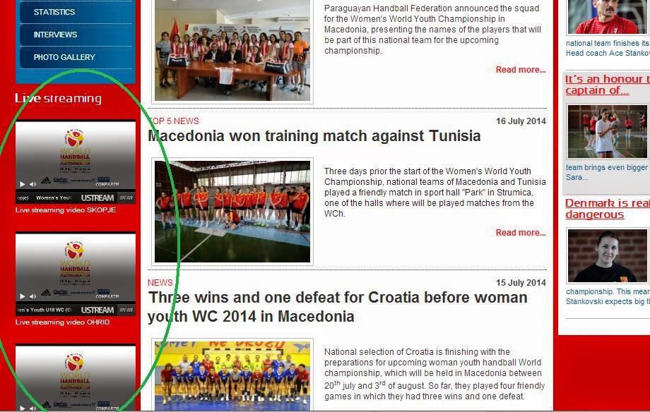 Mundial Juvenil Femenino: STREAMING   Mundo Handball