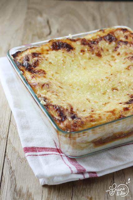 Lasagnes Poulet, Confit d'Aubergines, Ricotta, recette, Facile, Rapide, Pas chère, Originale