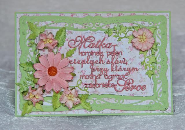 dzien mamy, dla niej, Magiczna karta, Magia Ombre, inspiracje, pomysł na prezent dla mamy, handmad, scrap, kartka dla mamy, matka kominek pełen ciepłych słów
