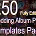 250 Editable Wedding Album PSD Templates Pack