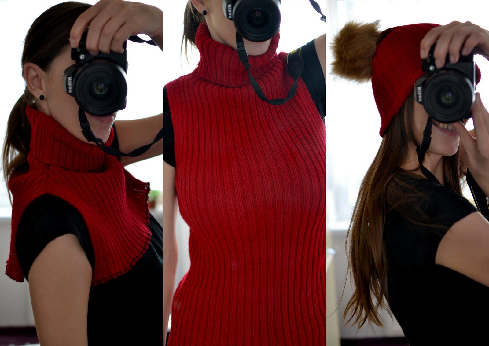 DIY: otestovala som, čo všetko sa dá vyrobiť zo starého svetra // falošný rolák, čiapka, rukavice