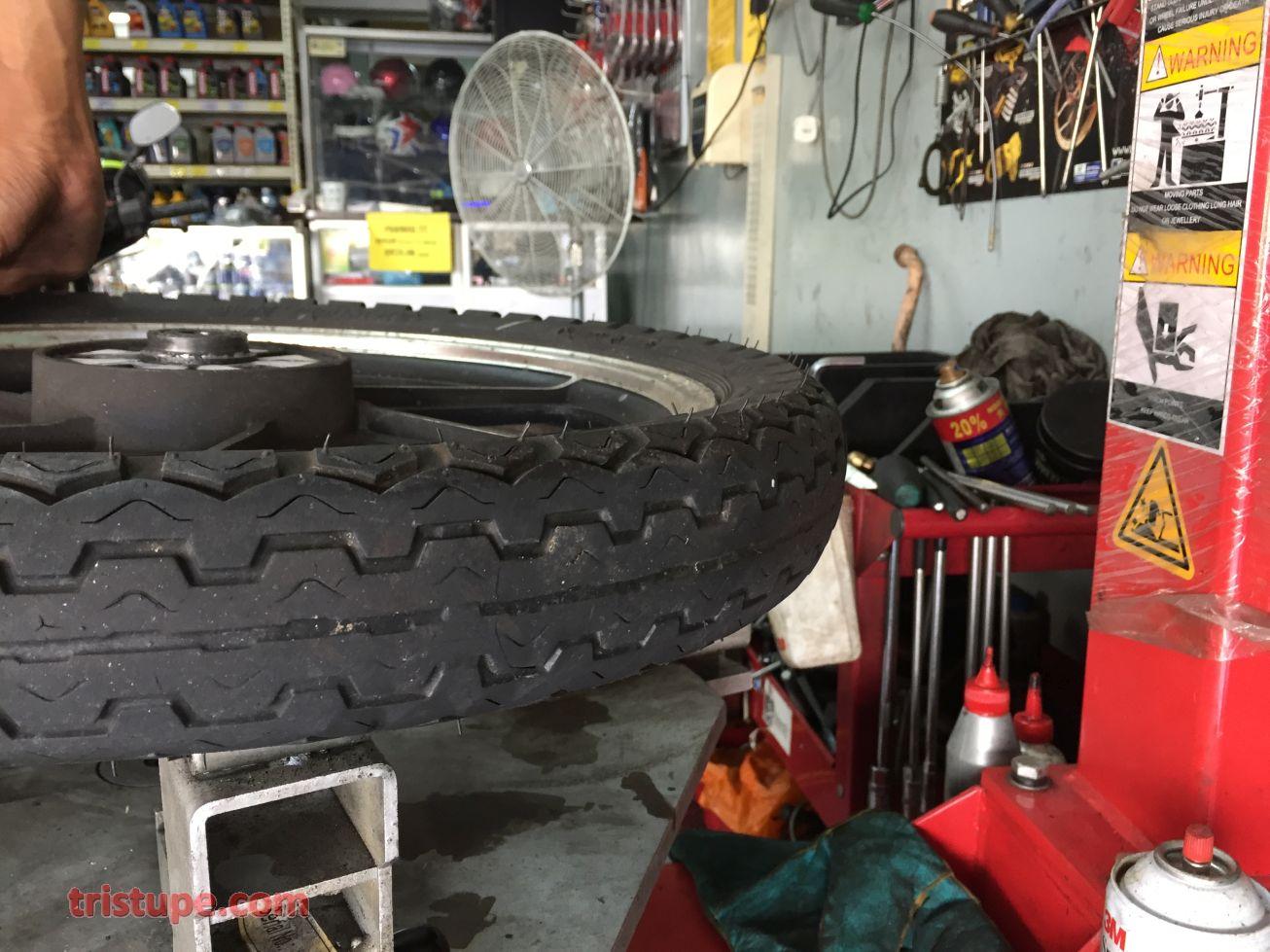 Changing Front Bearings On Kawasaki Prairie