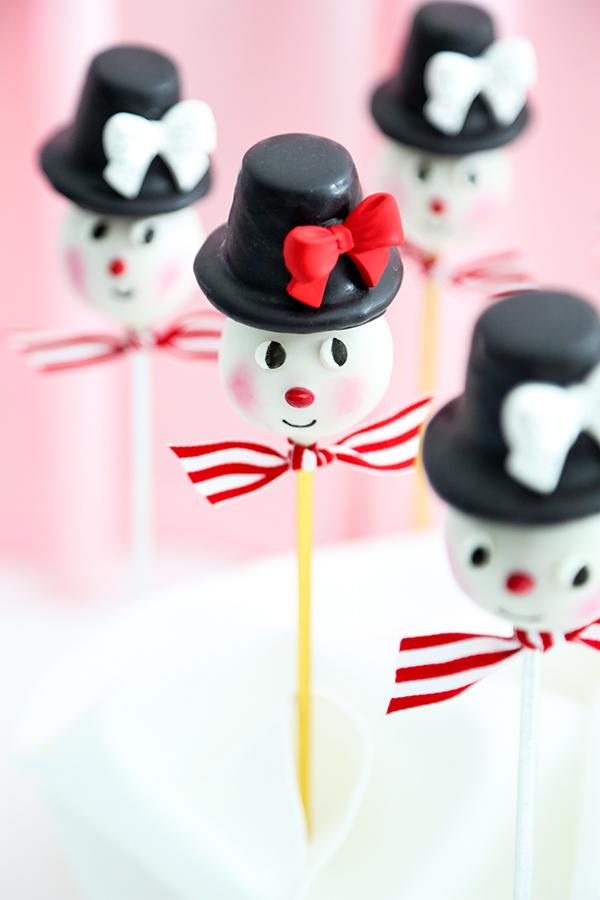 Vintage Snowman Cookie Pops