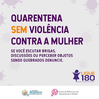 Quarentena SEM violência contra a Mulher