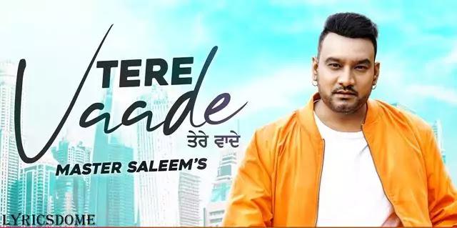 Tere Vaade Lyrics - Master Saleem