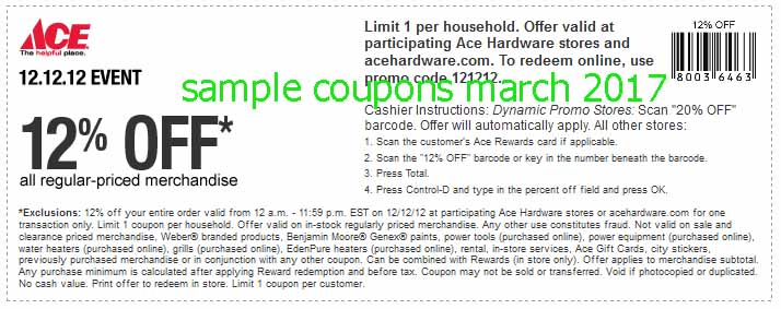 Ace hardware coupons 2019
