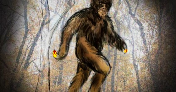 Sasquatch w/ Glowing Fingers Startles Hunters in Michigan