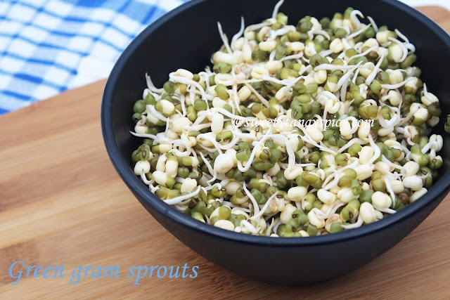 Green gram sprout in three ways/ Moong dal sprout / Cherupayar mulappichathu