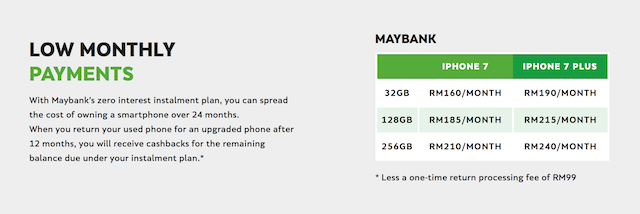 Low Monthly Payments with Maybank's zero interest instalment plan