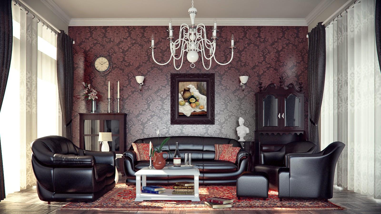 Interior Wonderful Ideas Of White Stone Wall Living Room: #9 Wonderful Interior Design Photos