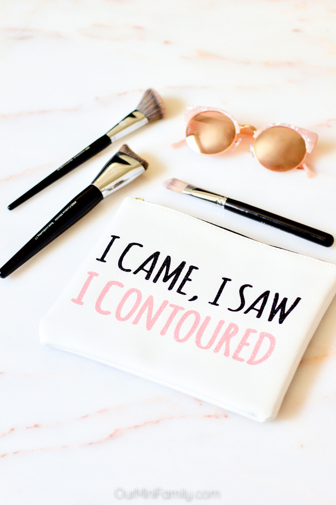 "Makeup Brushes and Makeup Bag ""I Came, I Saw, I Contoured"""