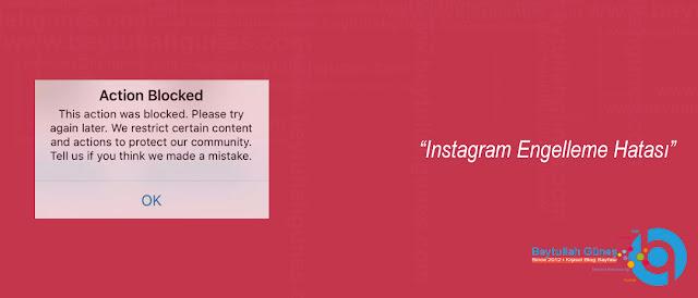 Instagram Engelleme Hatası