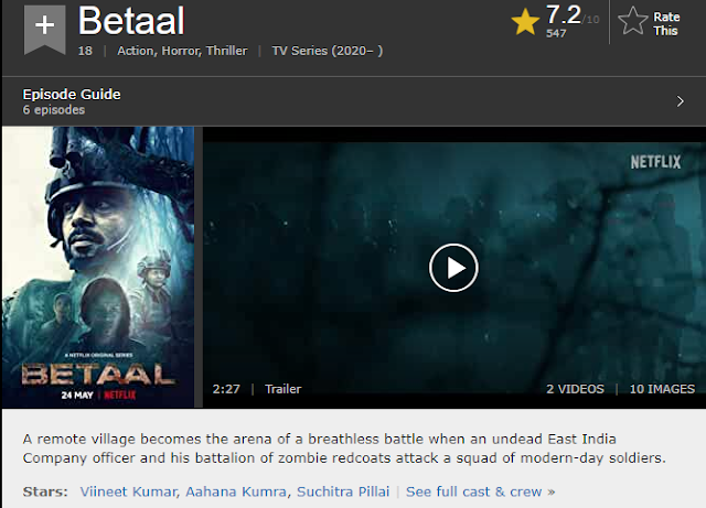 Download Betaal 2020 (Season 1) Hindi {Netflix Series} WeB-DL || 480p [150MB] || 720p [300MB] || 1080p [1.5GB]