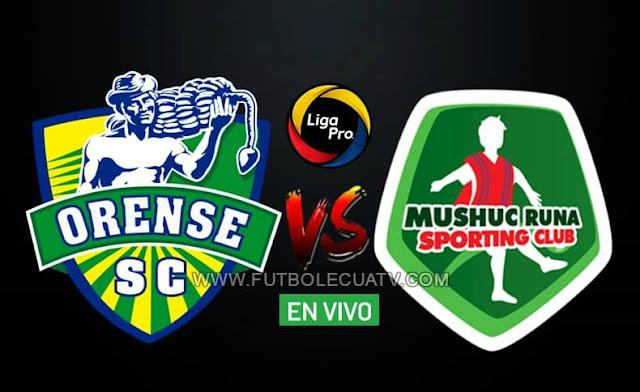 Orense recibe al Mushuc Runa en vivo desde las 14h30 hora local, por la fecha diez de la liga pro ecuador, trasmitido por GolTV a efectuarse en el reducto Nueve de Mayo ciudad de Machala. Con arbitraje principal de Roberto Sánchez.