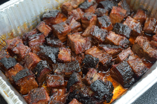 Beef Brisket Burnt Ends are my favorite bite in BBQ.  I used a Certified Angus Beef® Brand brisket for this one.
