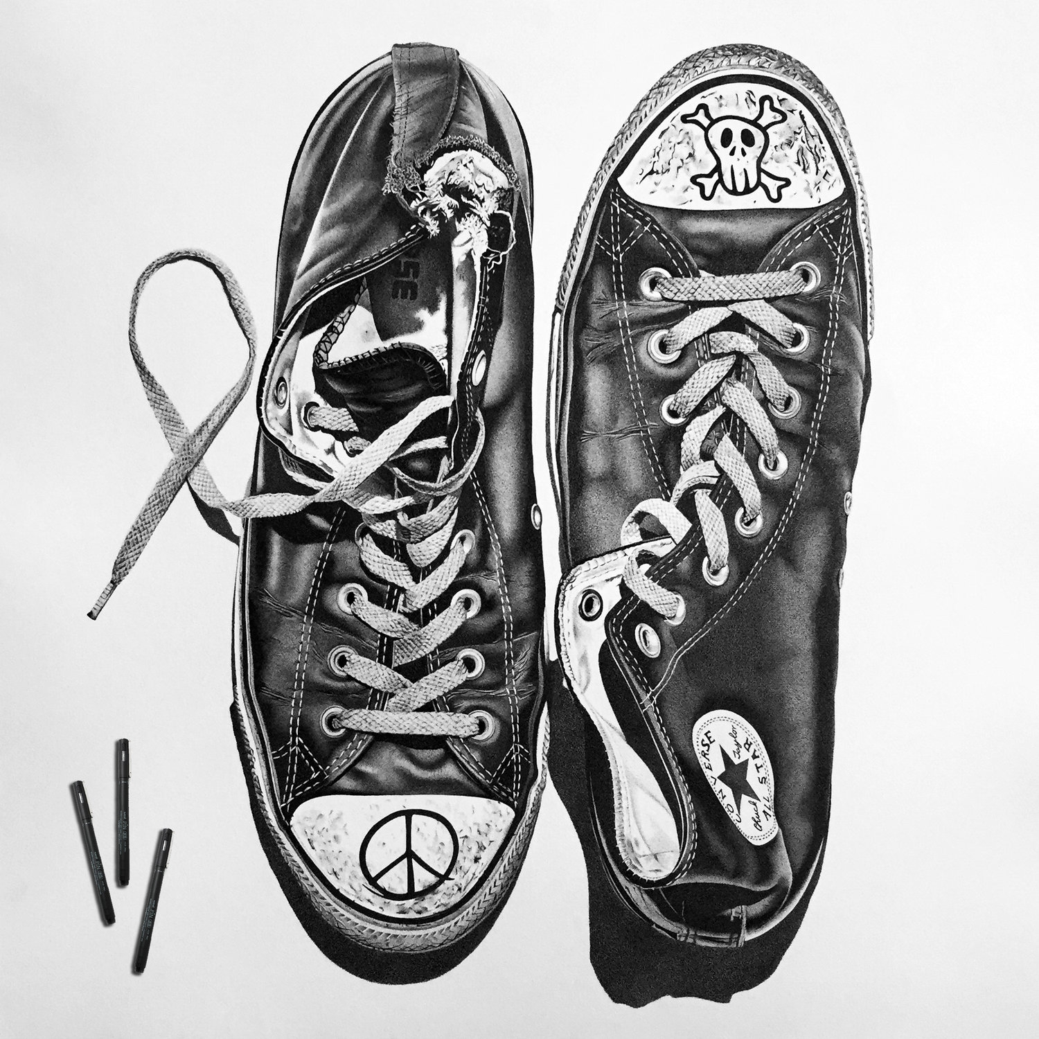 14-Converse-Sneakers-Alessandro-Paglia-Photo-Like-Black-and-White-Drawings-www-designstack-co