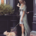 Pregnant Chrissy Teigen showed off her baby bump as she walked her dog in New York City