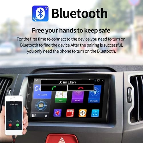 WZTO 7 Inch Double Din Android Car Stereo